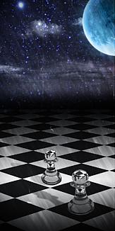 チェスと夜空