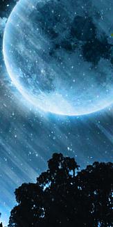 シルエット 満月