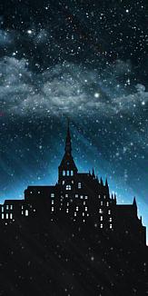 シルエット 白と夜空