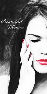 写真加工オリジナルスマホケース 白黒 魅力的な女性