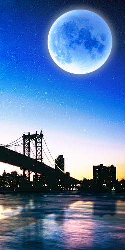街 夜空合成スマホケース