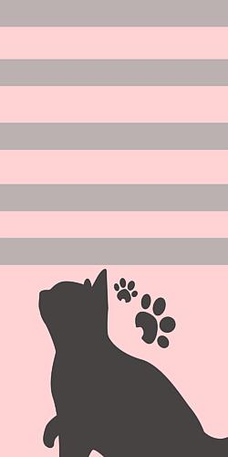 猫のシルエットスマホケース