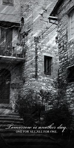 街並み写真 白黒加工スマホケース