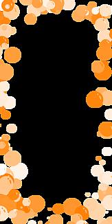 バブル-オレンジ