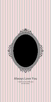 Oval frame pink