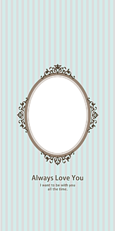 Oval frame mint