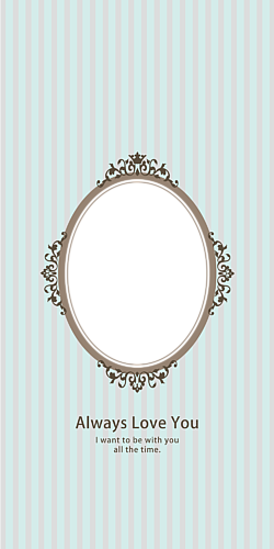 Oval frame mint