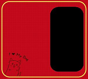I ♥ My Dog手帳ケース.ver2