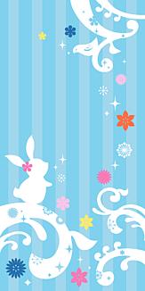 ウサギと小鳥のメルヘンなケース