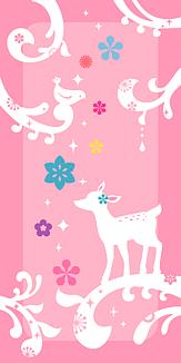 小鹿と小鳥のメルヘンなケース