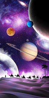 宇宙と砂漠