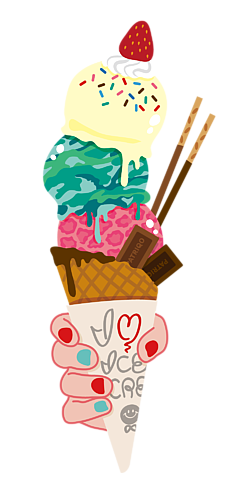 I LOVE ICE CREAM [クリア]