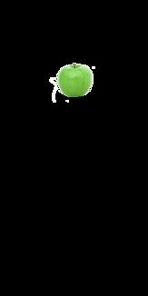 シンプル 青りんご