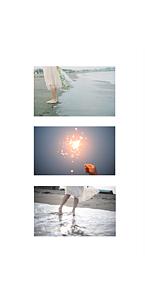 海と、かすみ草と、花火と