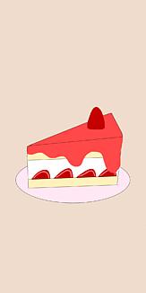 いちごソースがけ苺ケーキ
