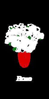 薔薇の花瓶【クリアケース.シンプル】