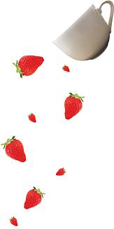 こぼれる苺