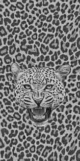 leopard (グレー)