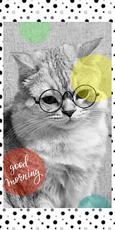 眼鏡猫~モノトーンドット~