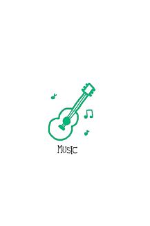 ギター 緑