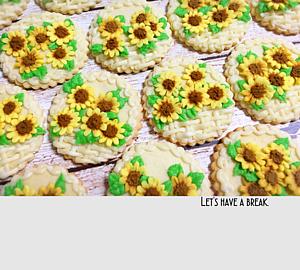 ひまわりのアイシングクッキー