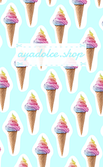 Rainbow ソフトクリーム★(アイスブルー)
