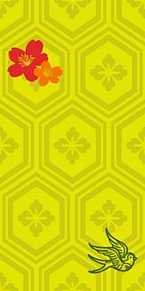 牡丹×鳥×紋章-イエロー