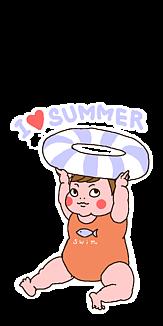 夏が好きな赤ちゃん
