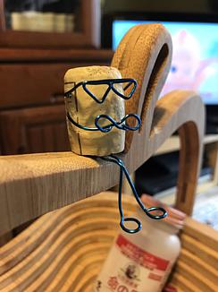 鉄板焼鶏いしちゃん コルク人形