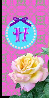 バラ♡イニシャル『H』