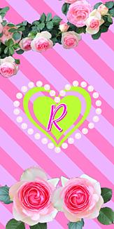 バラ♡イニシャル『R』ボーダー