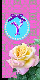 バラ♡イニシャル『Y』