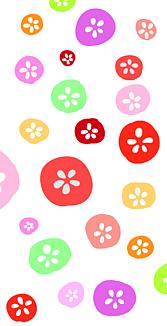 和風花柄ー赤白ー