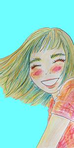 パステルな笑顔(ブルー)