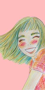 パステルな笑顔(ピンク)