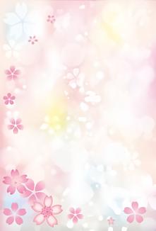 一面の桜の花びら