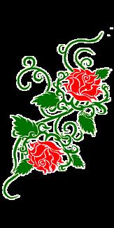 赤いバラ・スケルトン(タトゥー)②