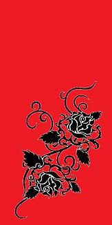 バラ・赤と黒(タトゥー)④