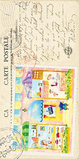 【洋手紙風】鬼っ子が訪れる洋菓子屋さん