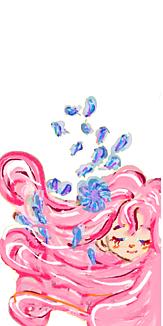 乙女シリーズ 花と女の子(ホワイト)