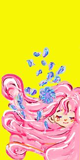 乙女シリーズ 花と女の子(イエロー)
