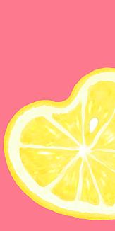ハートレモン (ピンク)