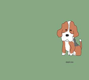 ビーグル犬(グリーン)1匹
