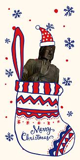 大仏様もクリスマス