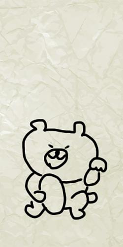 落書き風 シュールなクマさん