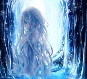 milkuro「森の光と泉/癒しの少女」手帳