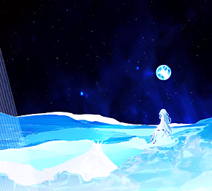 milkuro「夜空の月と淡い少女」手帳