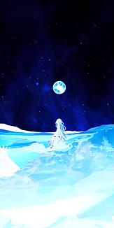 milkuro「夜空の月と淡い少女」ケース