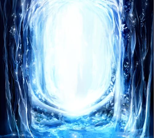 milkuro「森の光と泉/背景」手帳