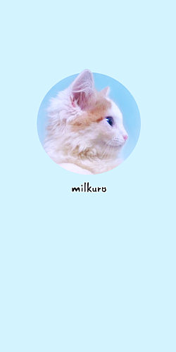 milkuro「猫の横顔/写真」ケース blue